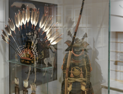 A set of ceremonial archery equipment for the enthronement ceremony of the Taisho Emperor